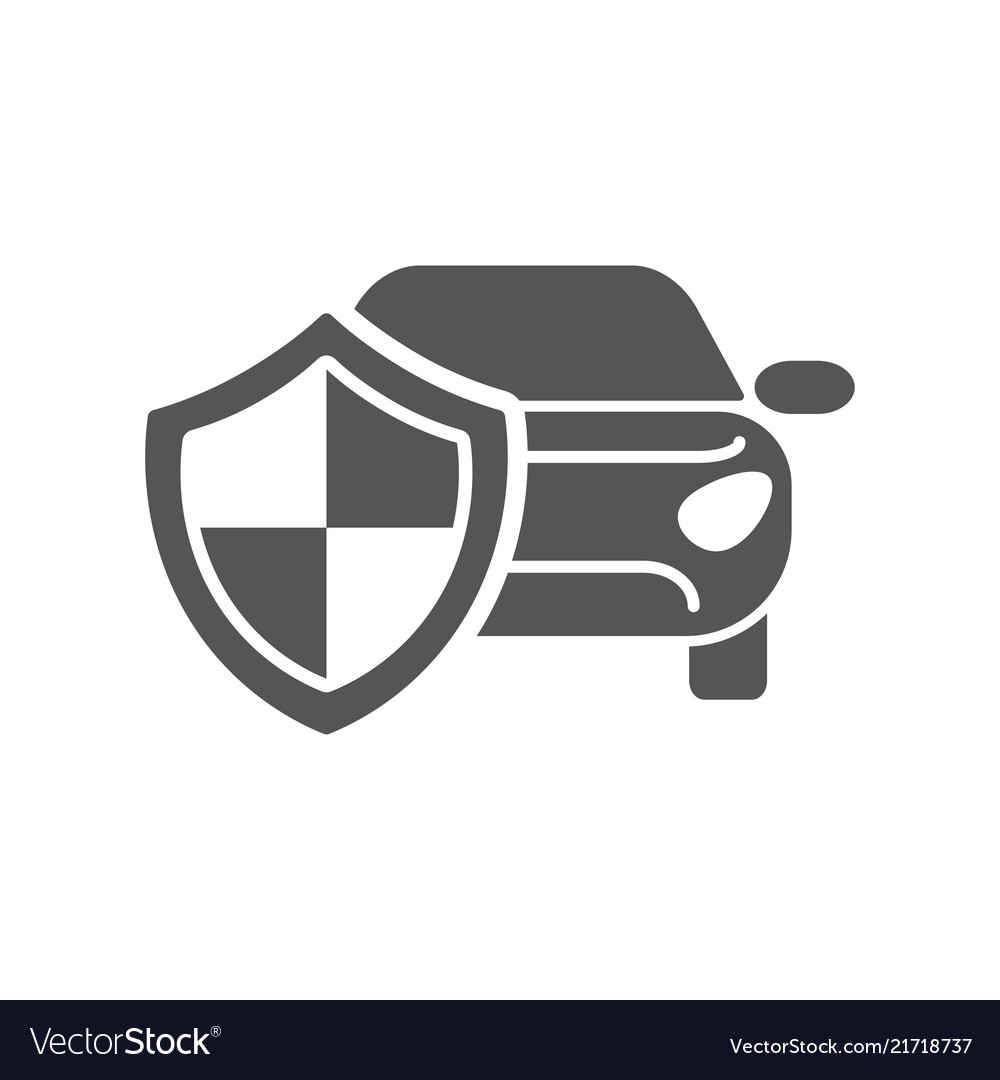 Car insurance logo isolated on white background Vector Image
