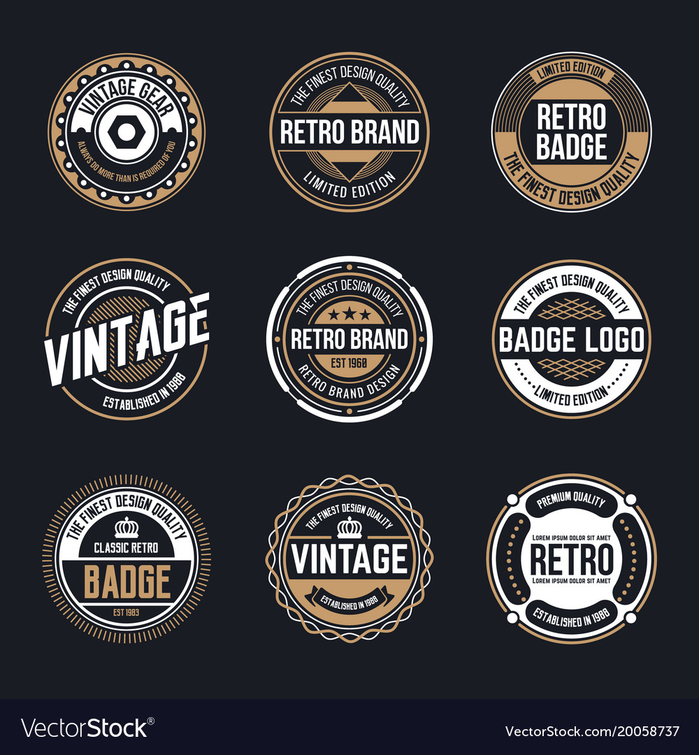 Circle vintage and retro badge design vector image