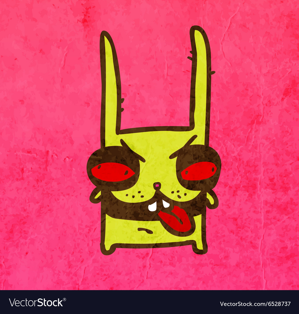 Evil Bunny Cartoon vector image