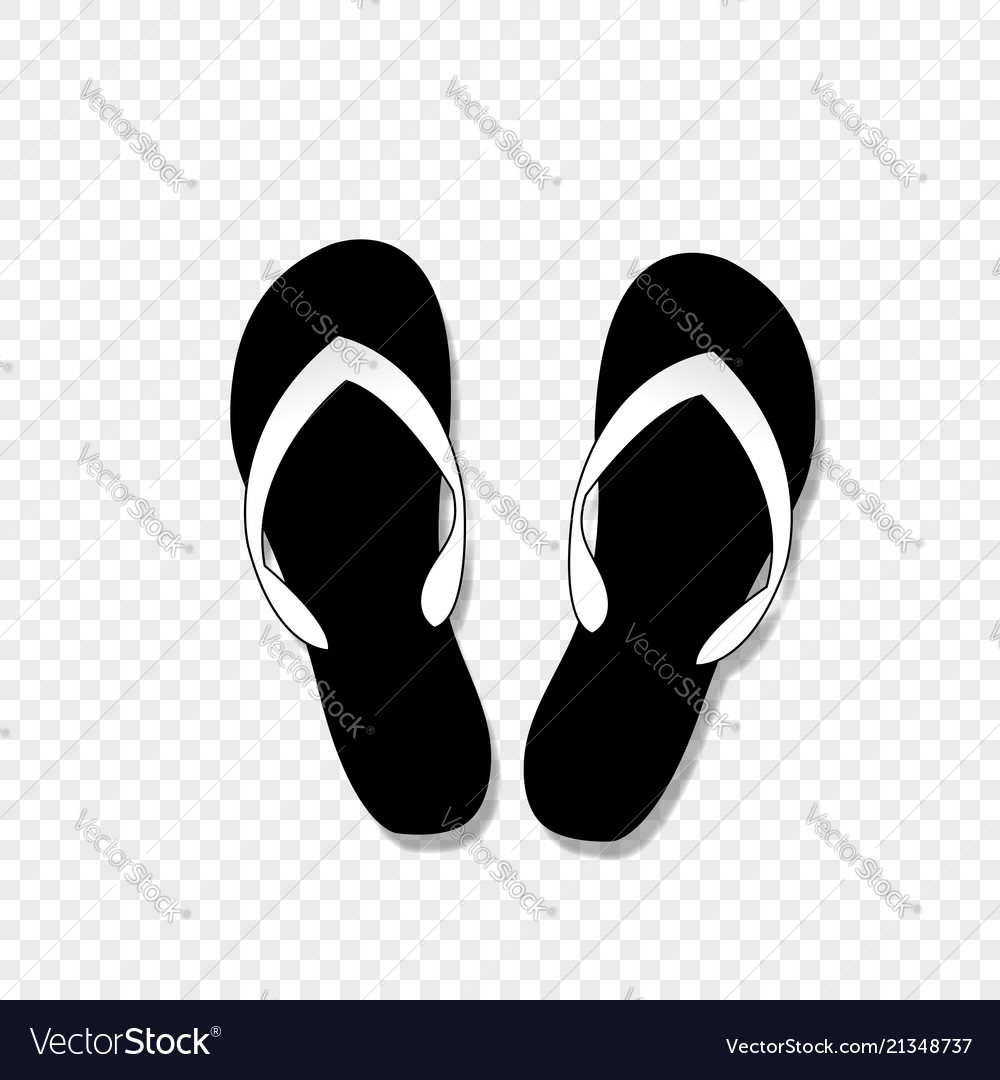 Flip-flops icon isolated on transparent background