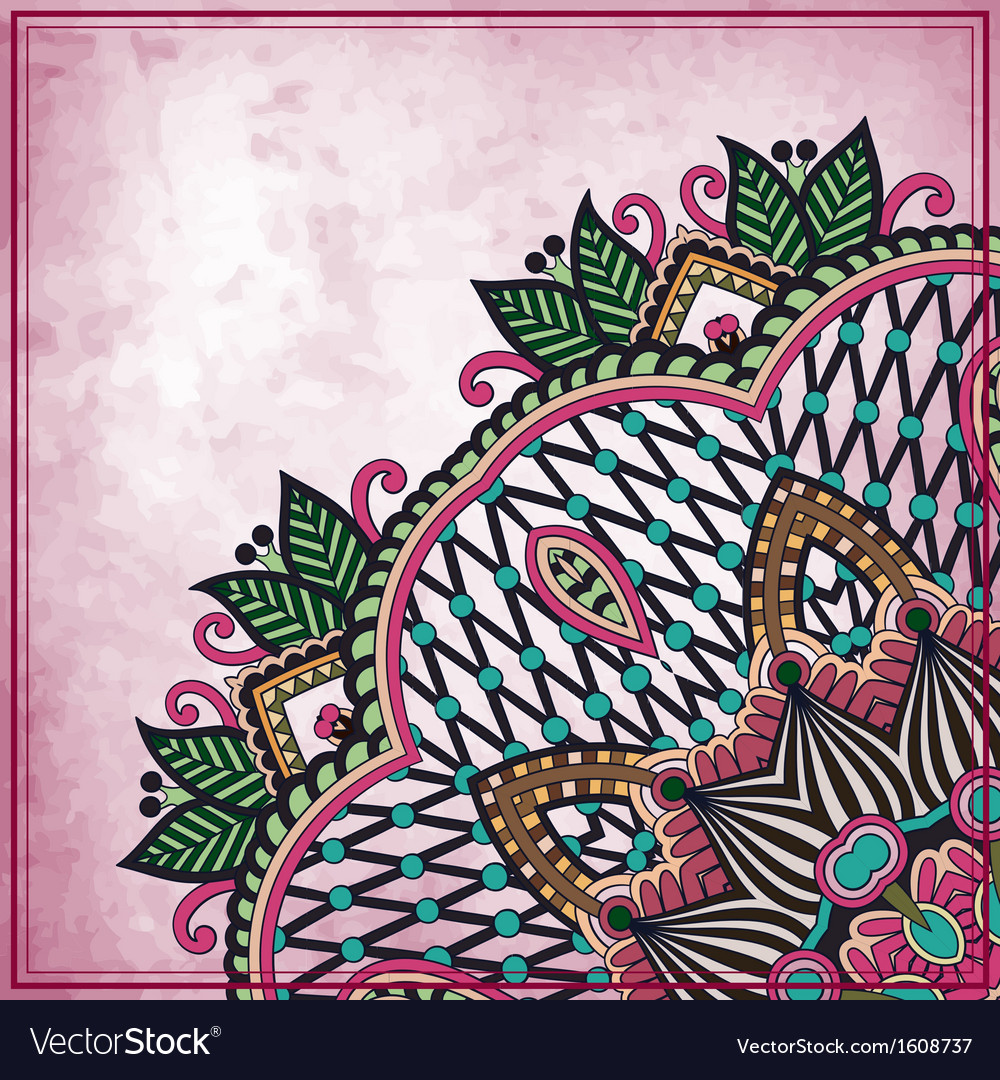 Flower design on grunge background vector image