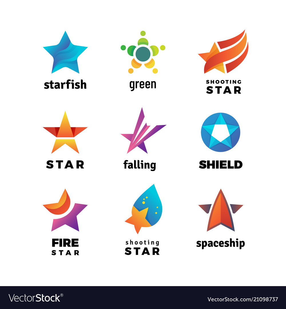 Leader star rising stars logo comet with