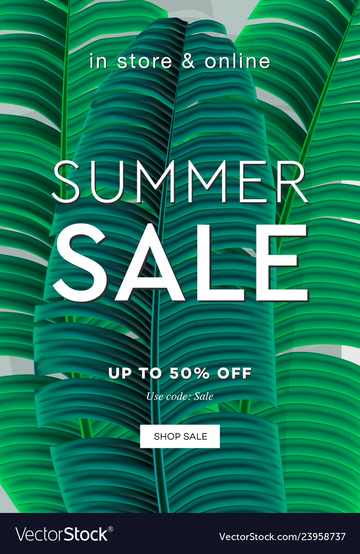 Palm leaf summer sale up to 50 percent off web