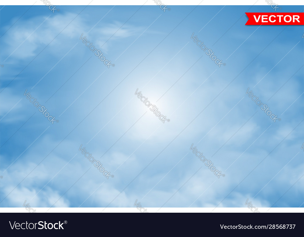 Photorealistic colorful blue sky background