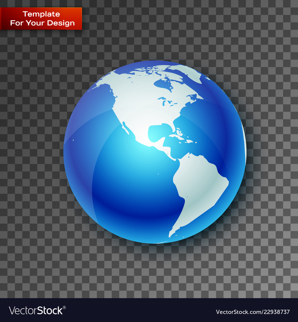 Planet on transparent background