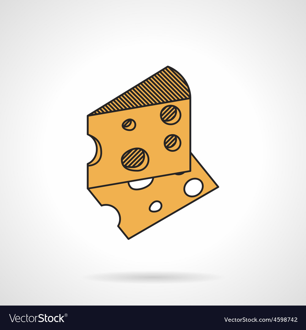 Cheese flat icon