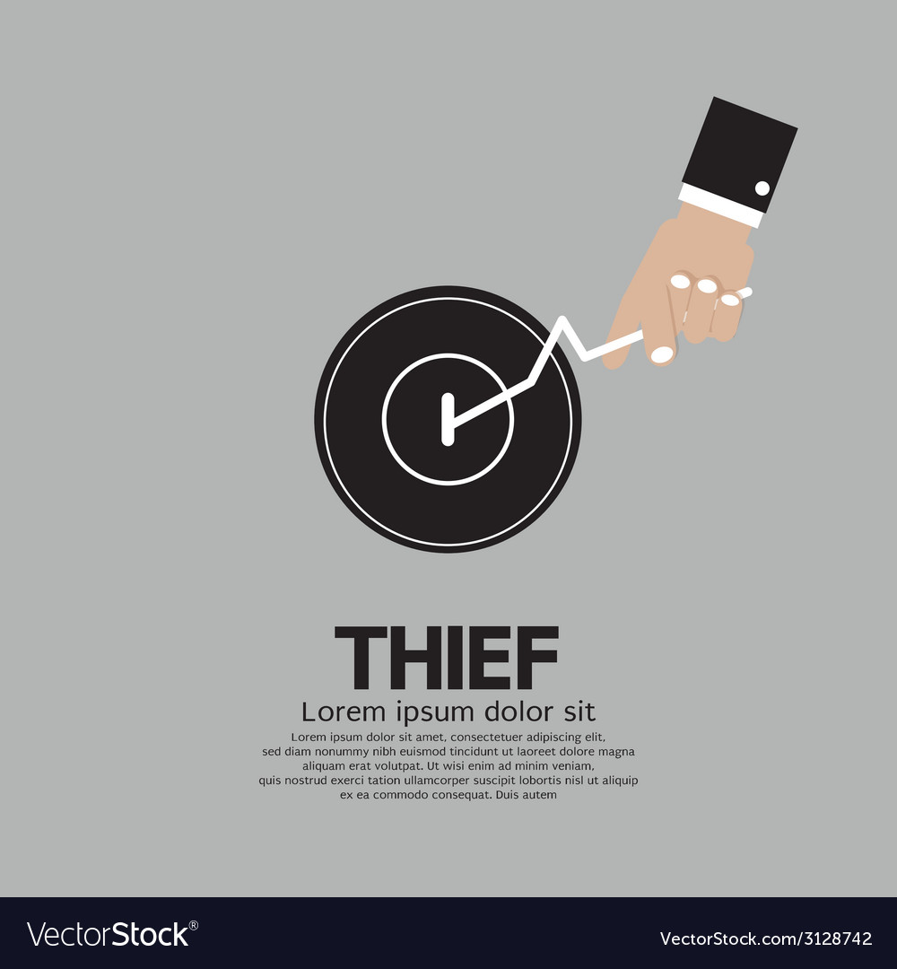Thiefs Hand Turn On Door Knob vector image
