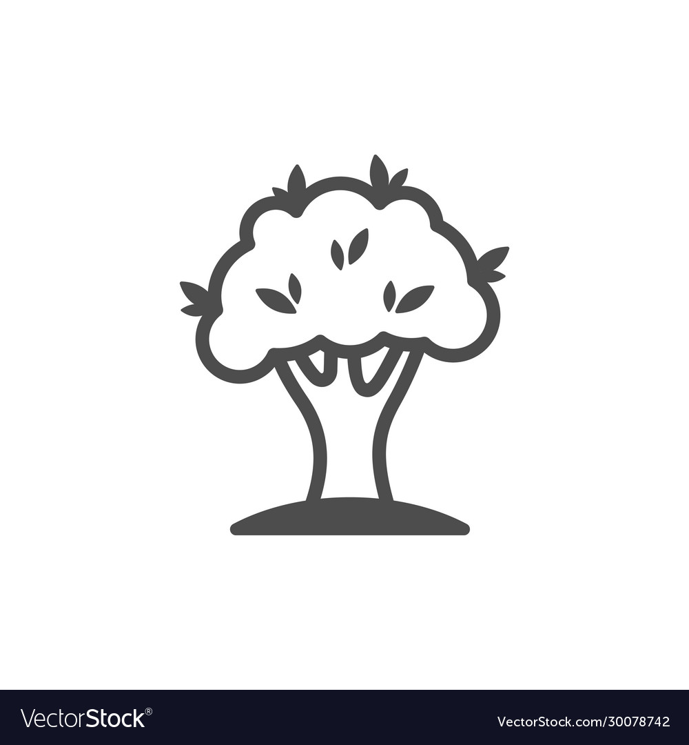 Tree outline icon nature simple