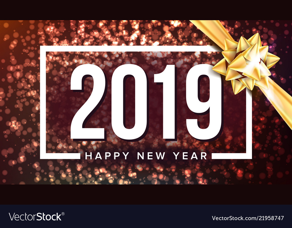 2019 happy new year background holiday of
