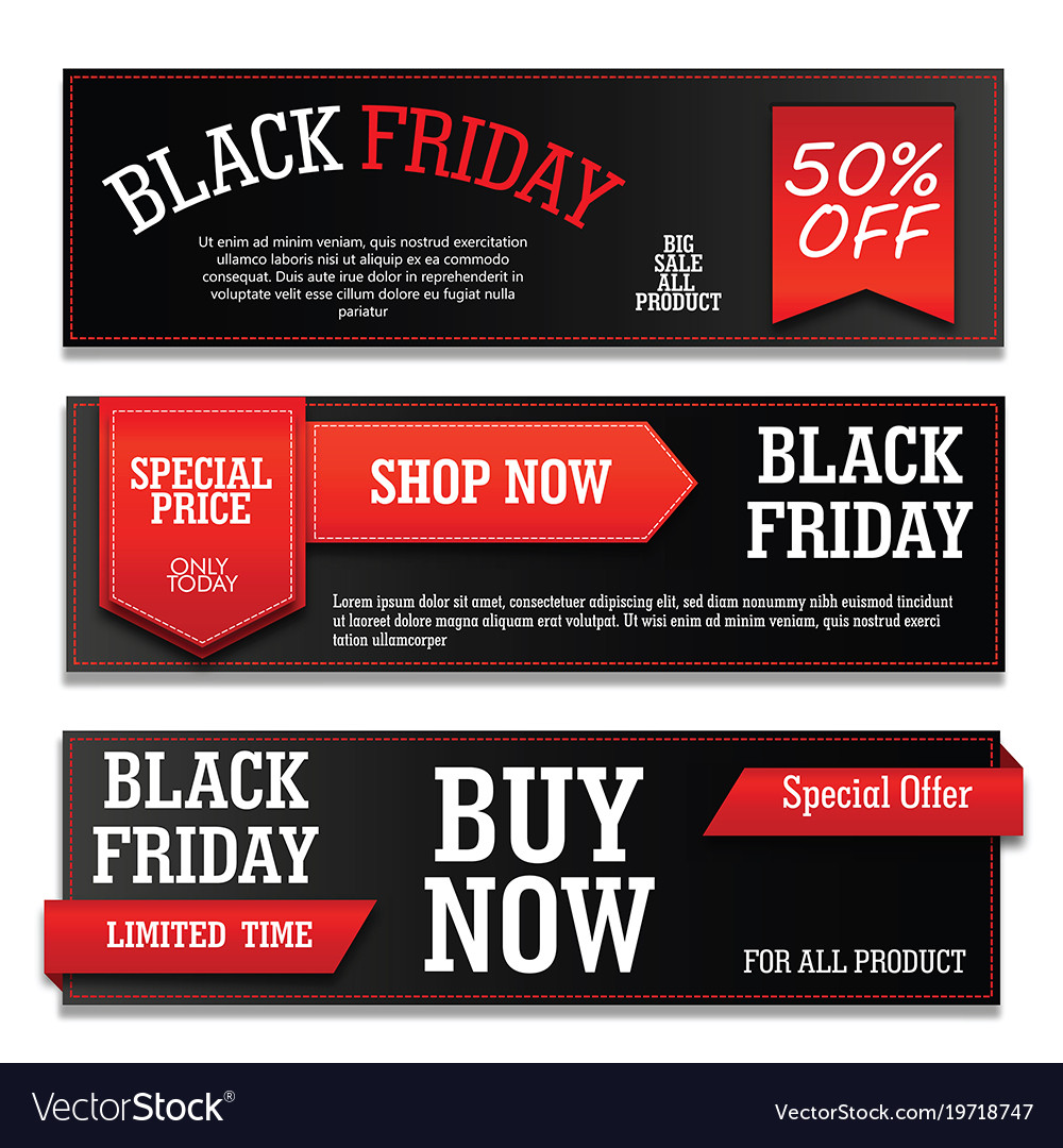 Banner black friday with text