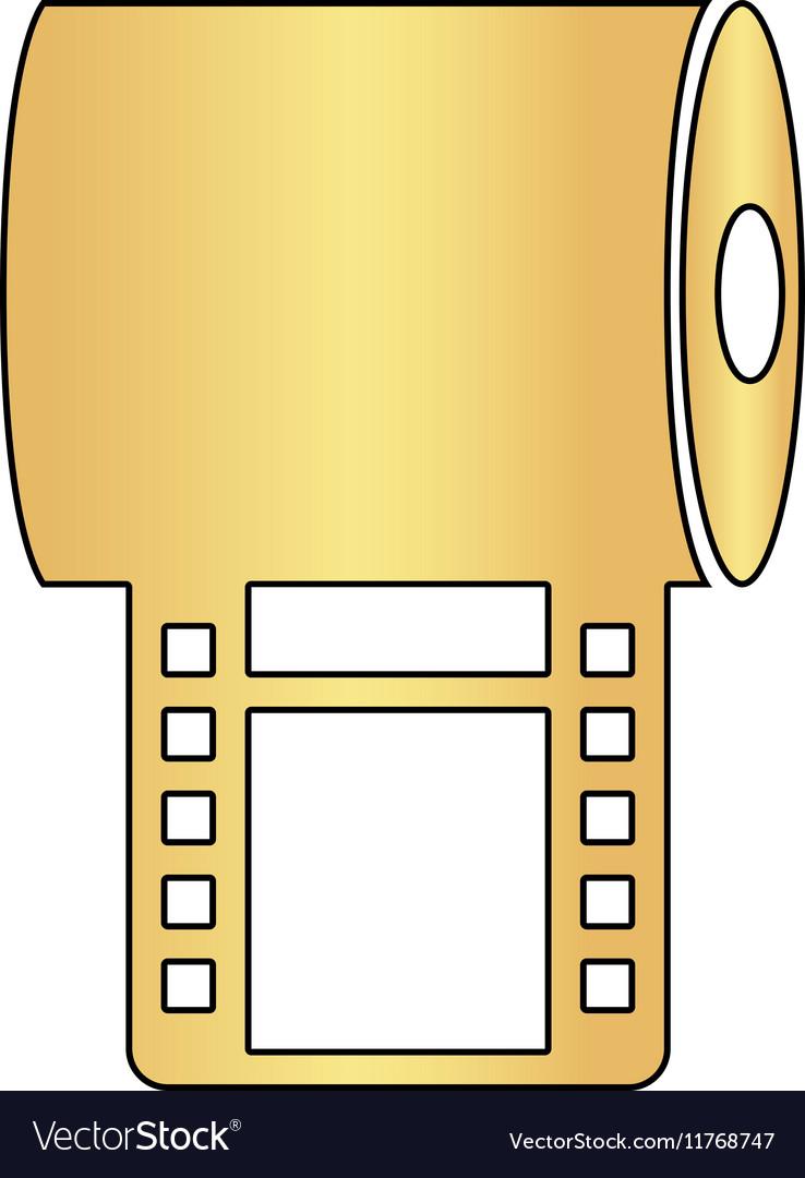 Film strip computer symbol