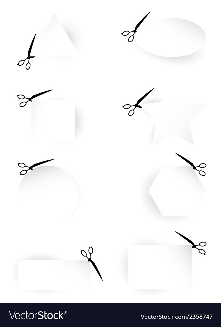 scissors template collection royalty free vector image
