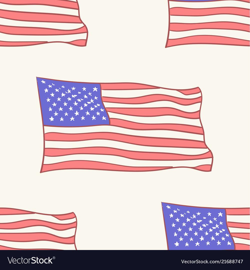 Usa flag icon pattern seamless tile