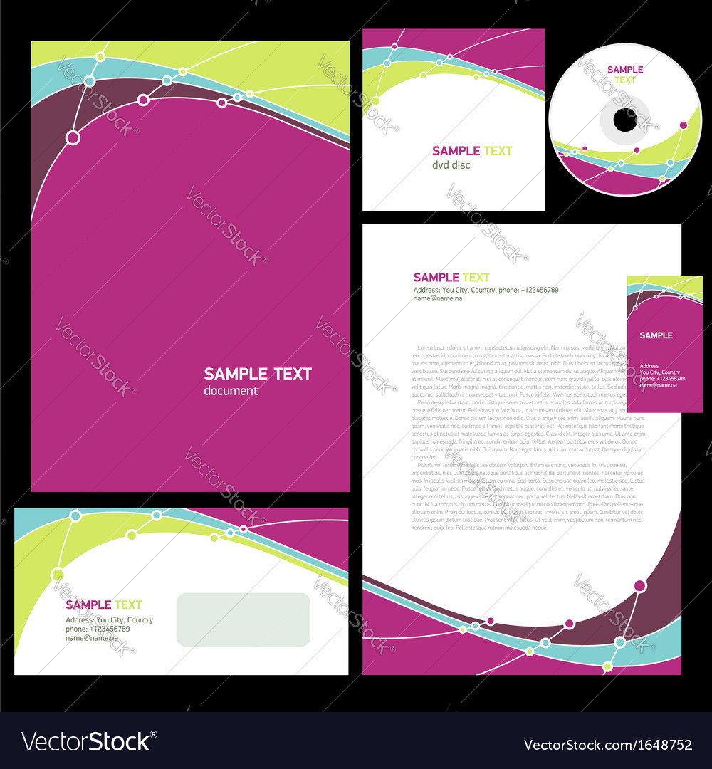 Abstract corporate identity line wave colorful
