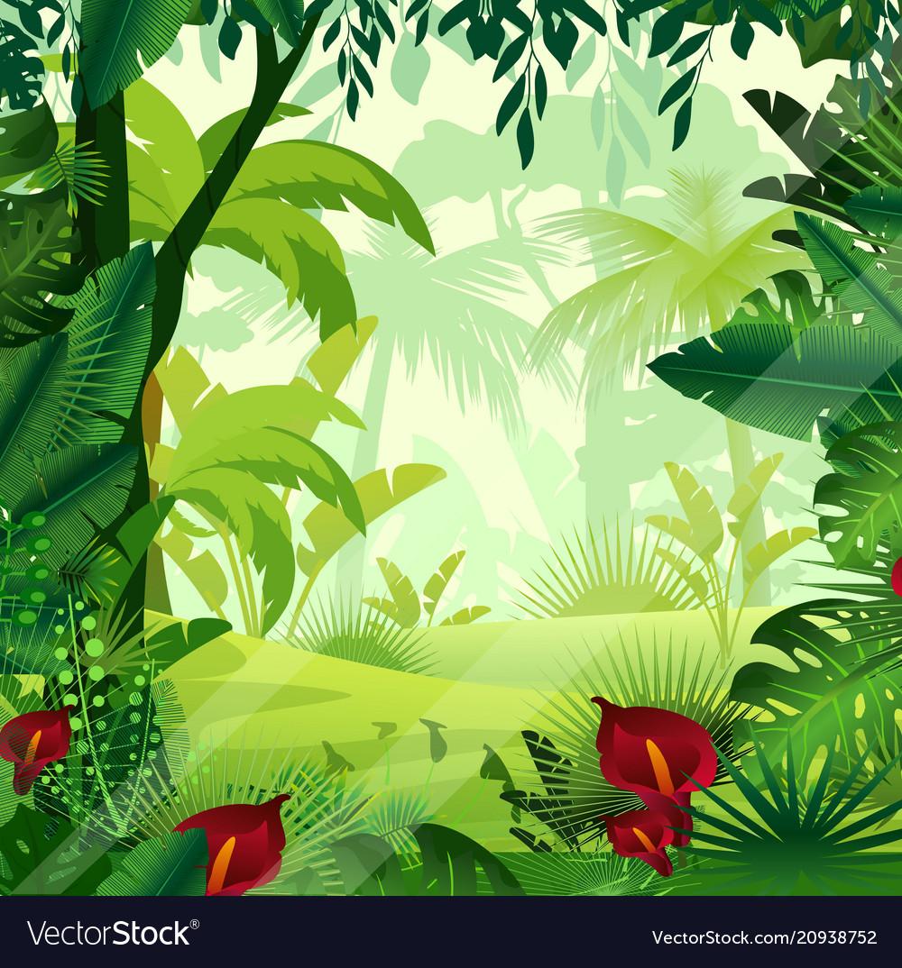 Background jungle lawn in