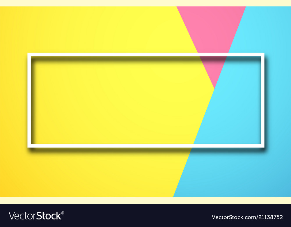Colour Background With White Rectangular Frame