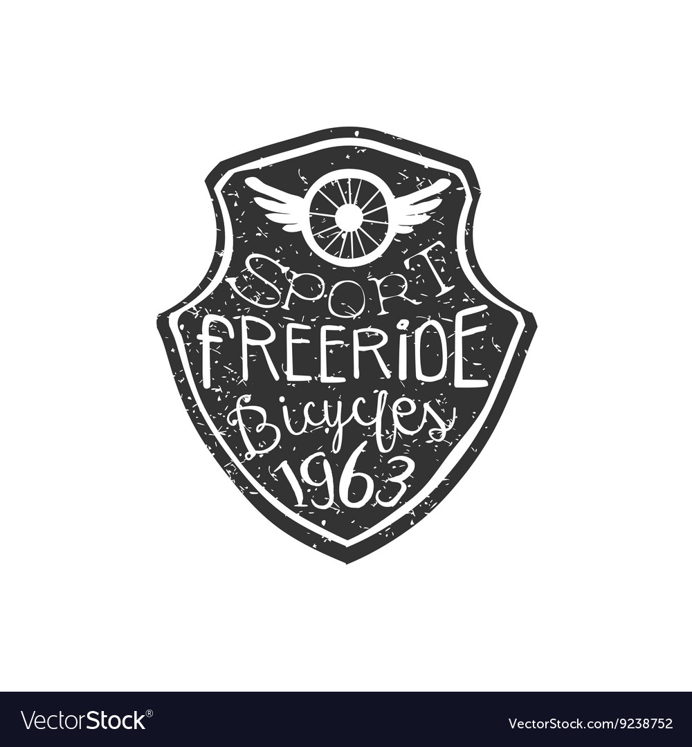 Freeride Vintage Badge With Winged Wheel