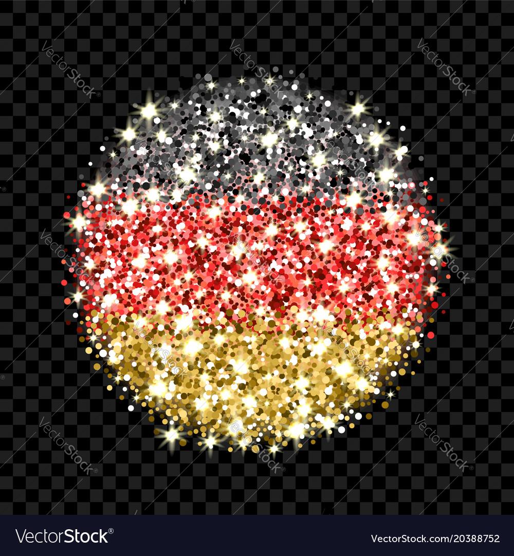 Germany flag sparkling badge