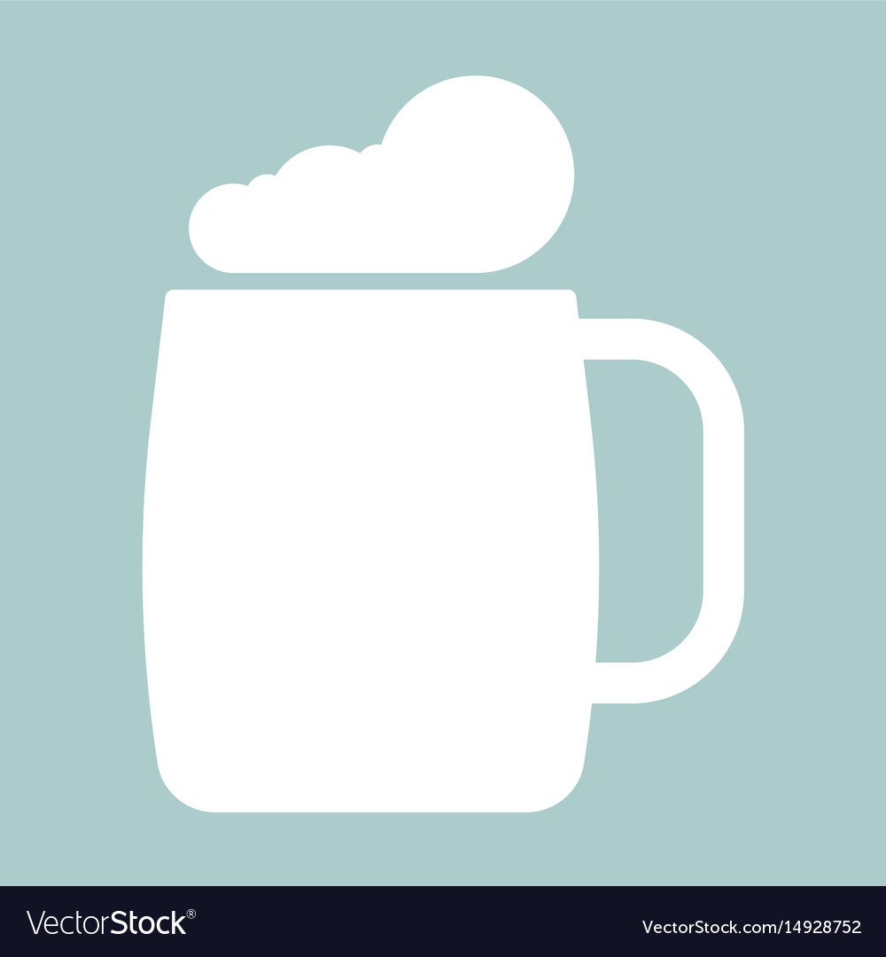 Glass of beer the white color icon