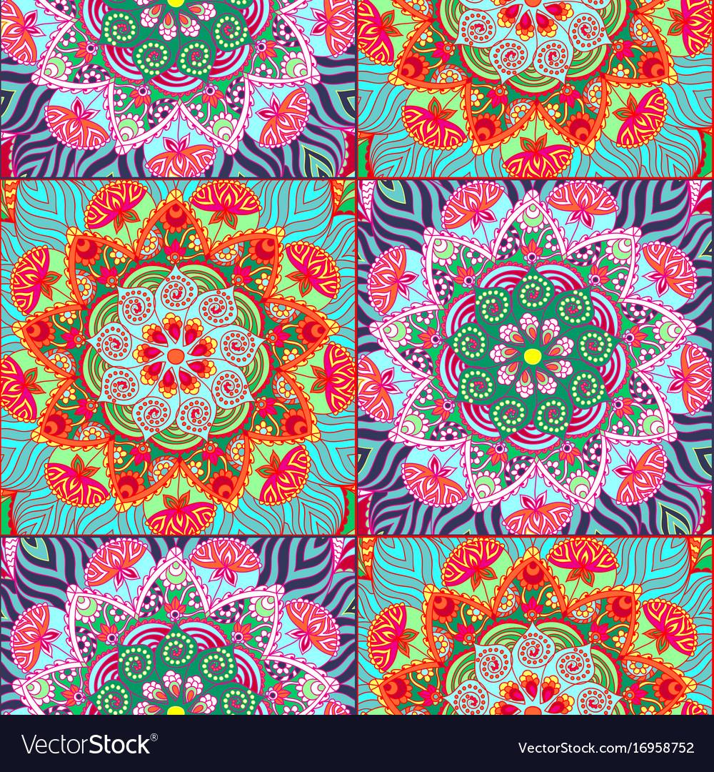 Seamless pattern tiles in oriental style