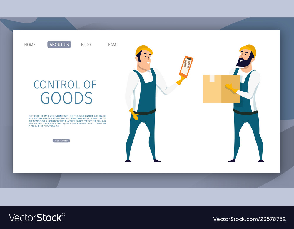 Warehouse male worker control of goods delivery