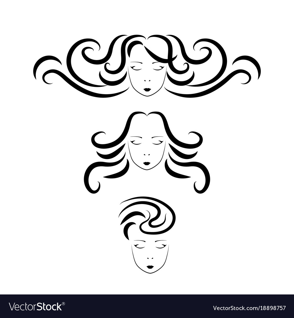 Beauty hair face woman silhouette