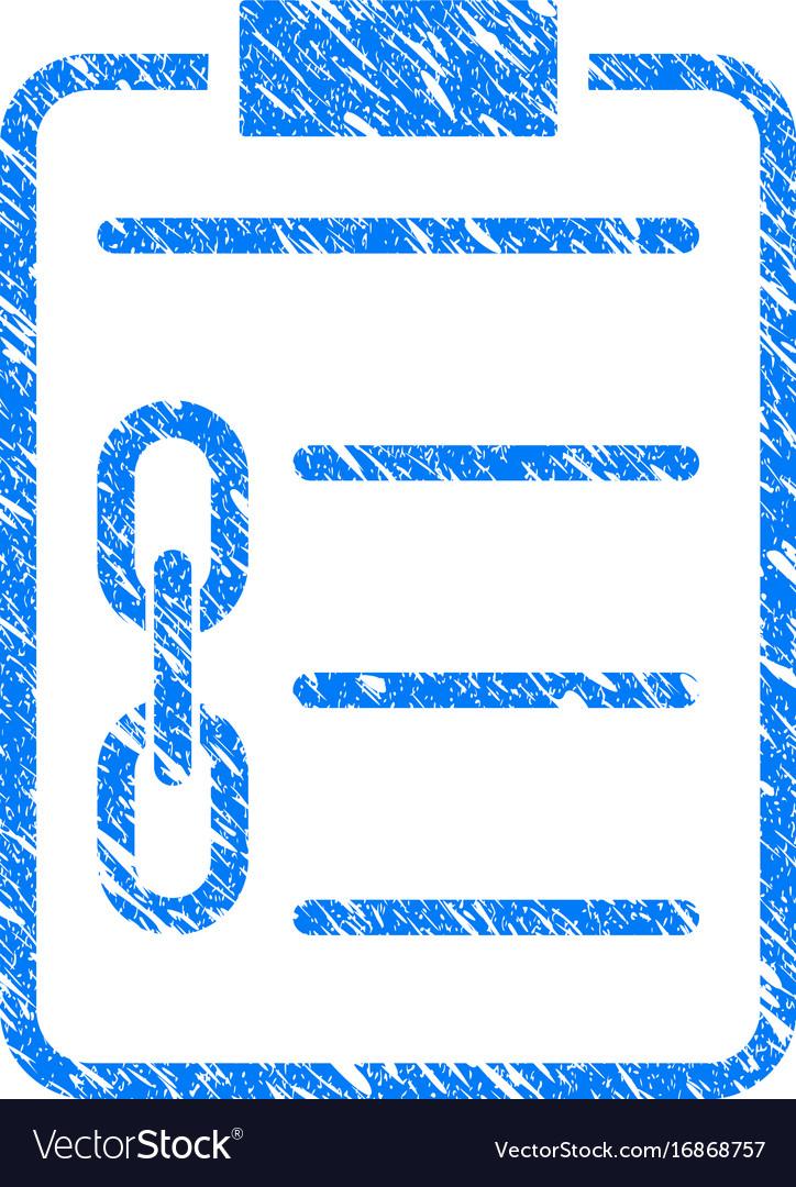 Blockchain contract icon grunge watermark