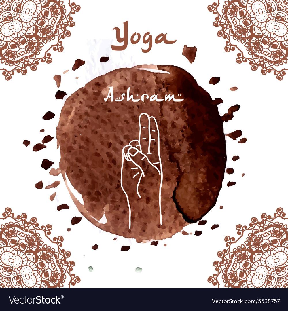 Element yoga mudra hands vector image