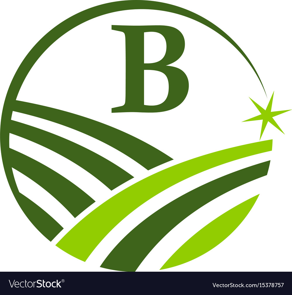 Green project solution center initial p vector image