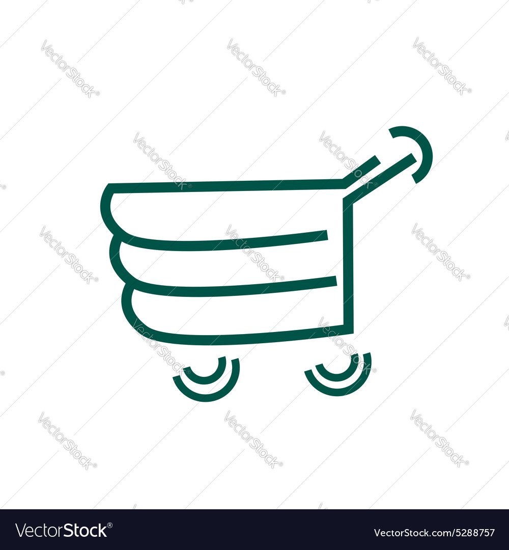 Logo For Shopping Abstract Cart Vector Image Diagram
