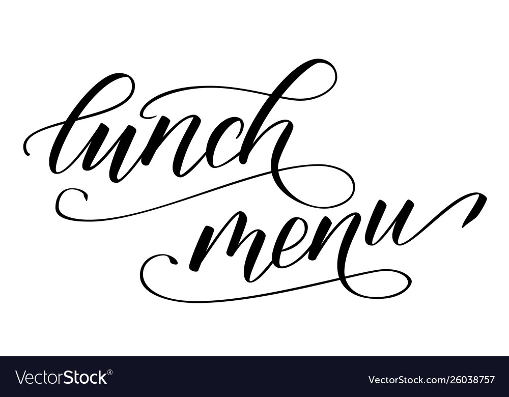 Modern brush calligraphy lunch menu