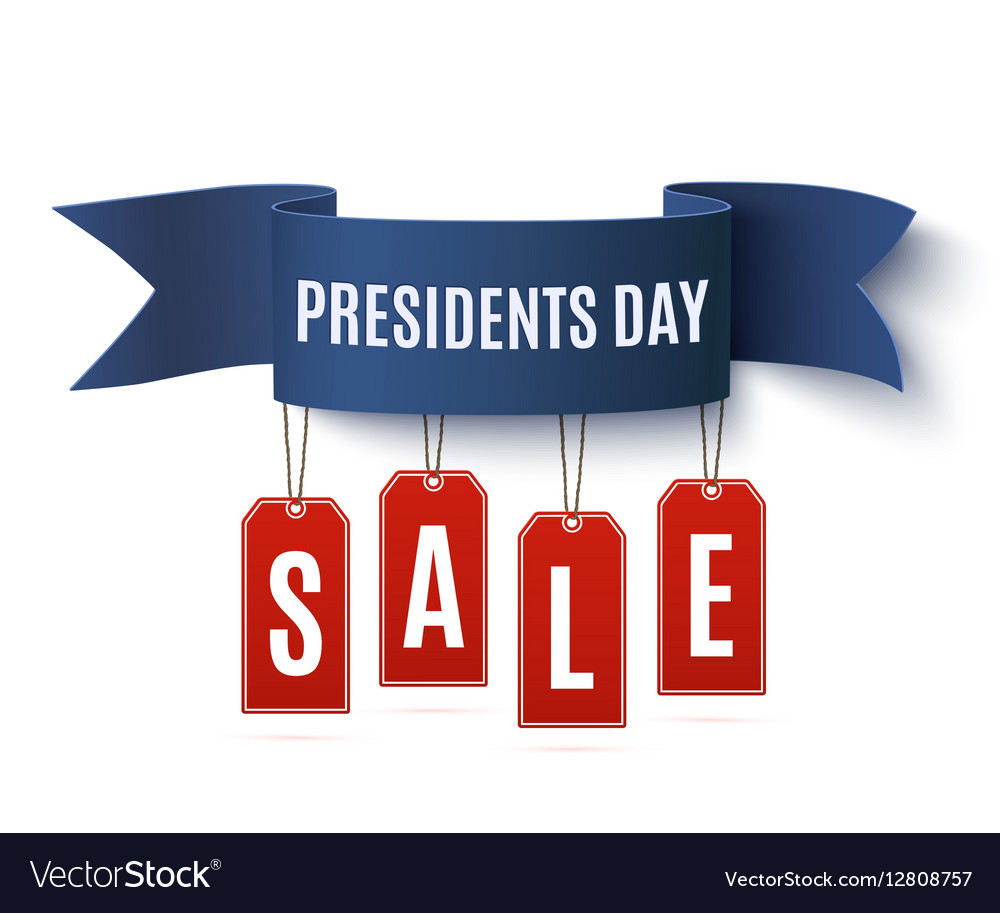 Presidents Day Sale Background Template Royalty Free Vector