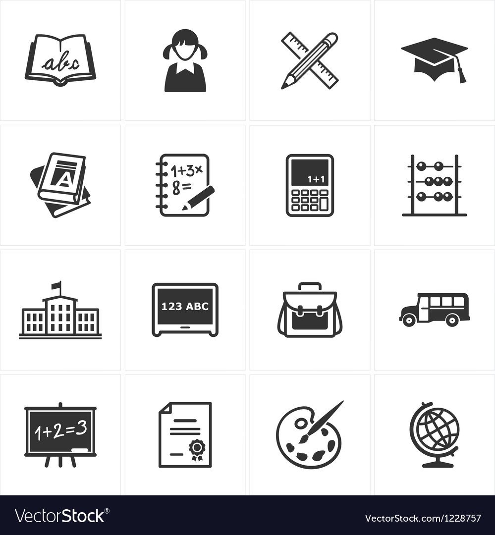 School and Education Icons - Set 1