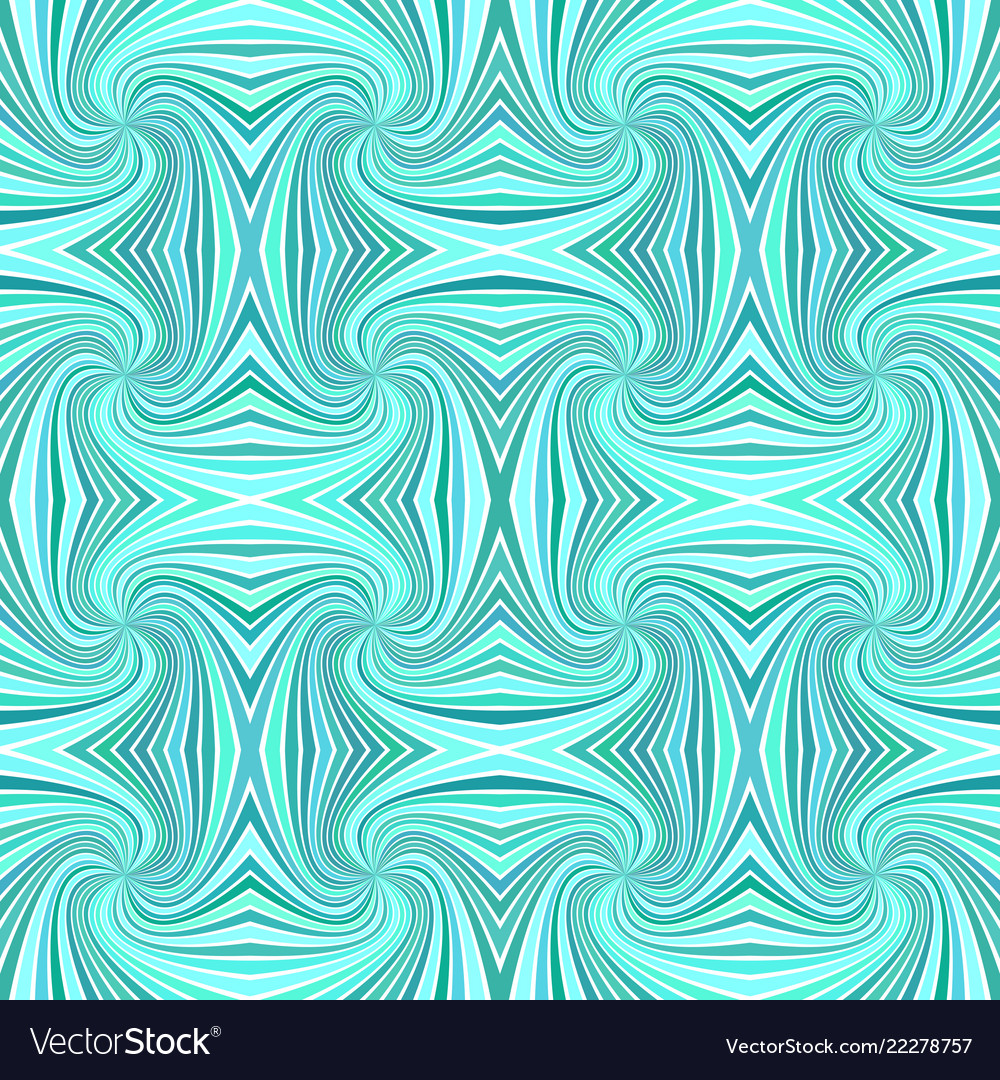 Turquoise seamless abstract hypnotic spiral ray