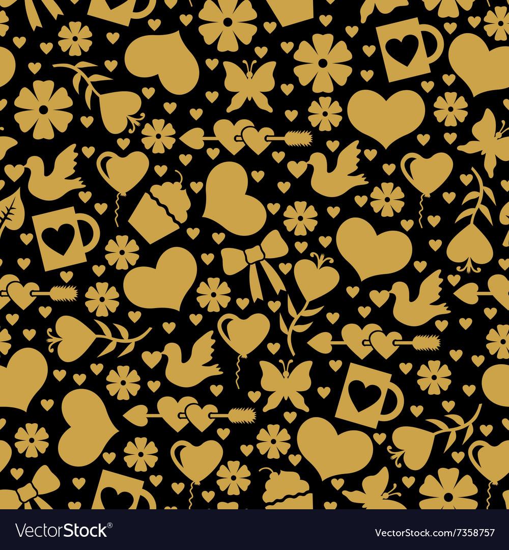 Valentine day seaml gold