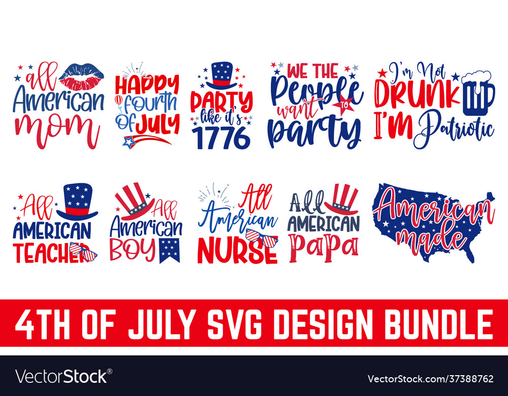 4th july svg united stated independence day cu