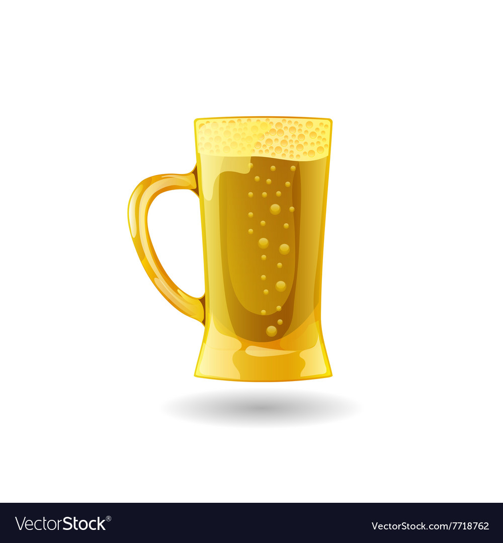 Background Beer cup alcohol drink eps vector image