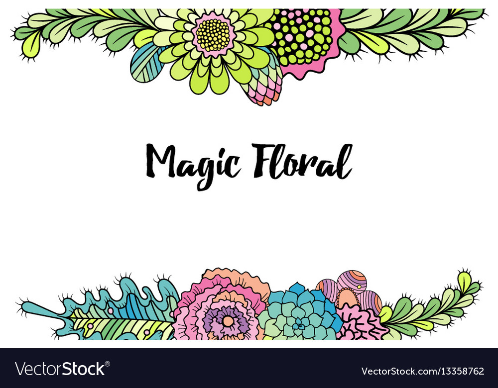 Colorful flower bouquets Royalty Free Vector Image