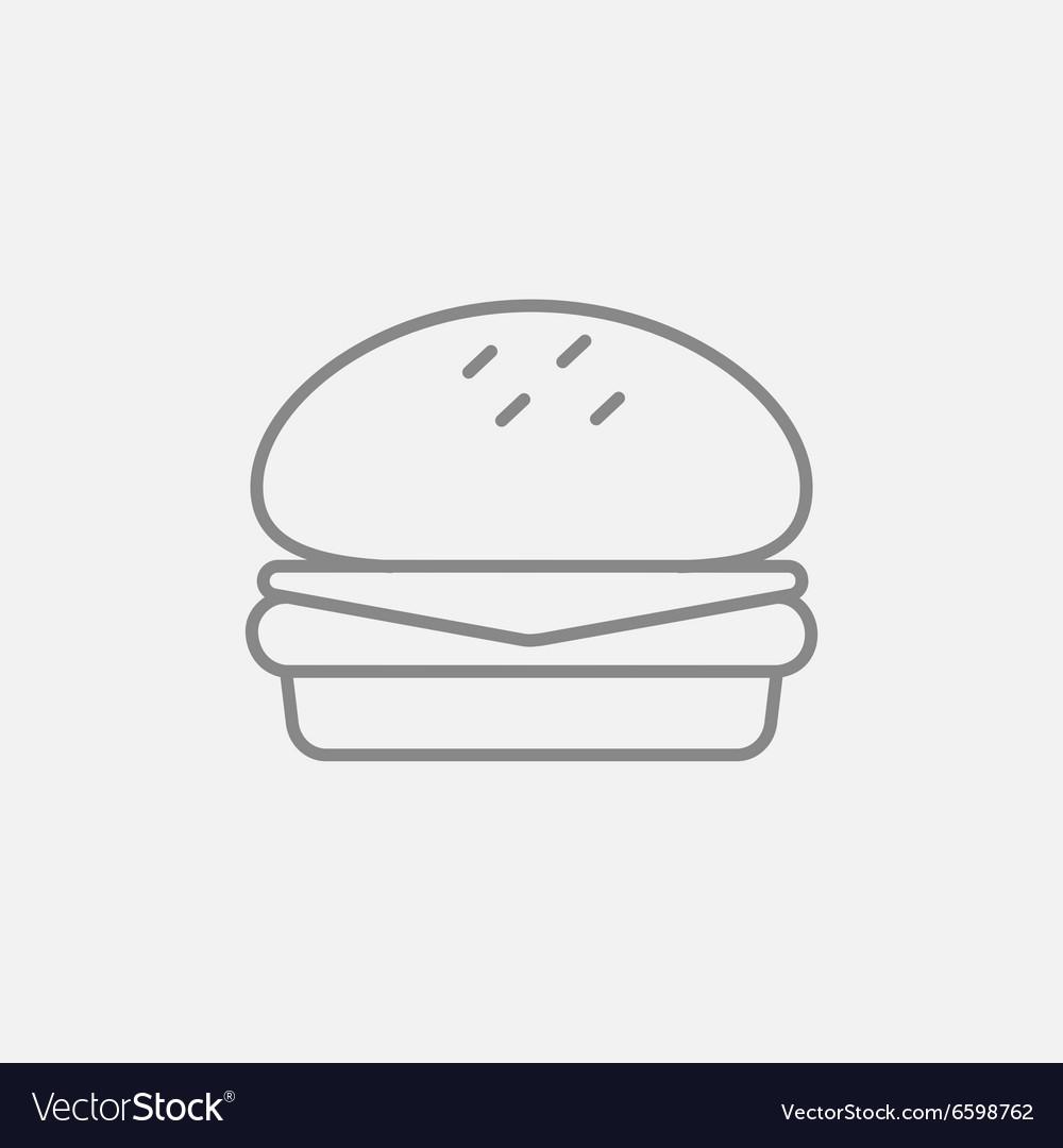Hamburger line icon
