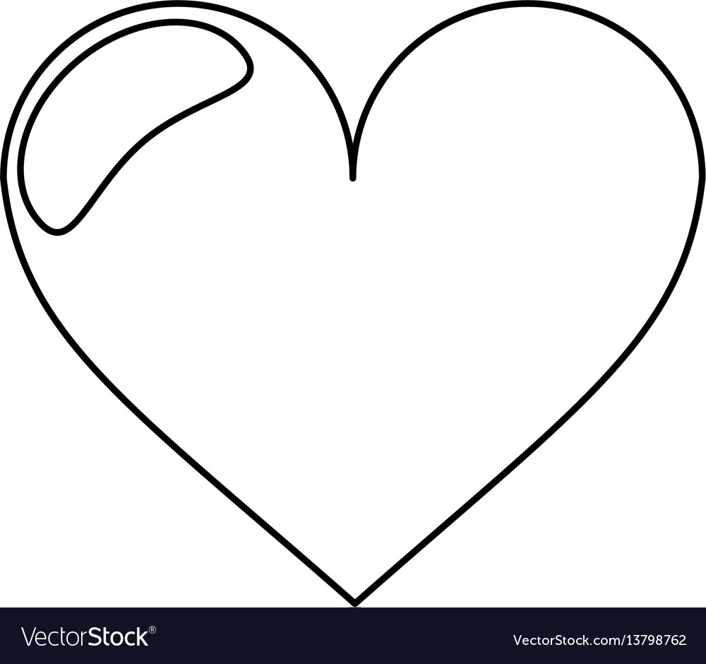 Heart love romantic outline