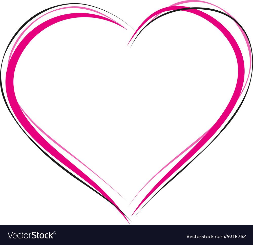 heart symbol of love sign of heart outline heart vector image rh vectorstock com type heart outline symbol small heart outline symbol