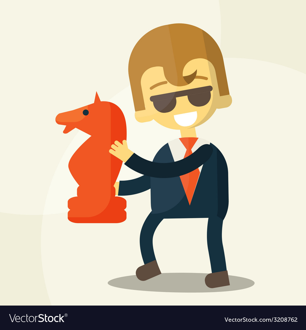 Smiling businessman and a great development vector image