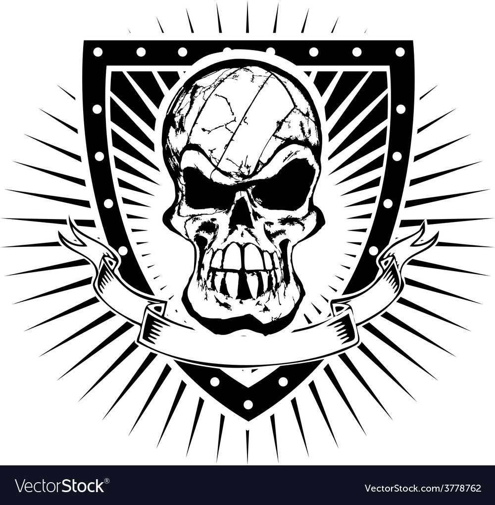 Volleyball skull shield