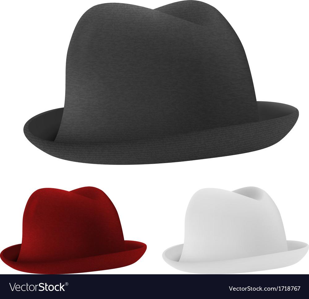 Bowler hats set template vector image