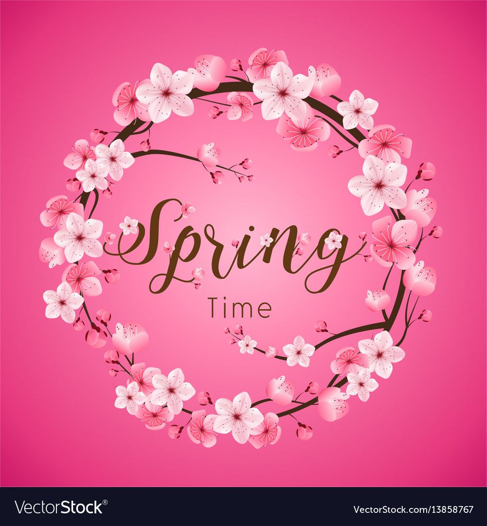 Cherry blossom spring time realistic sakura