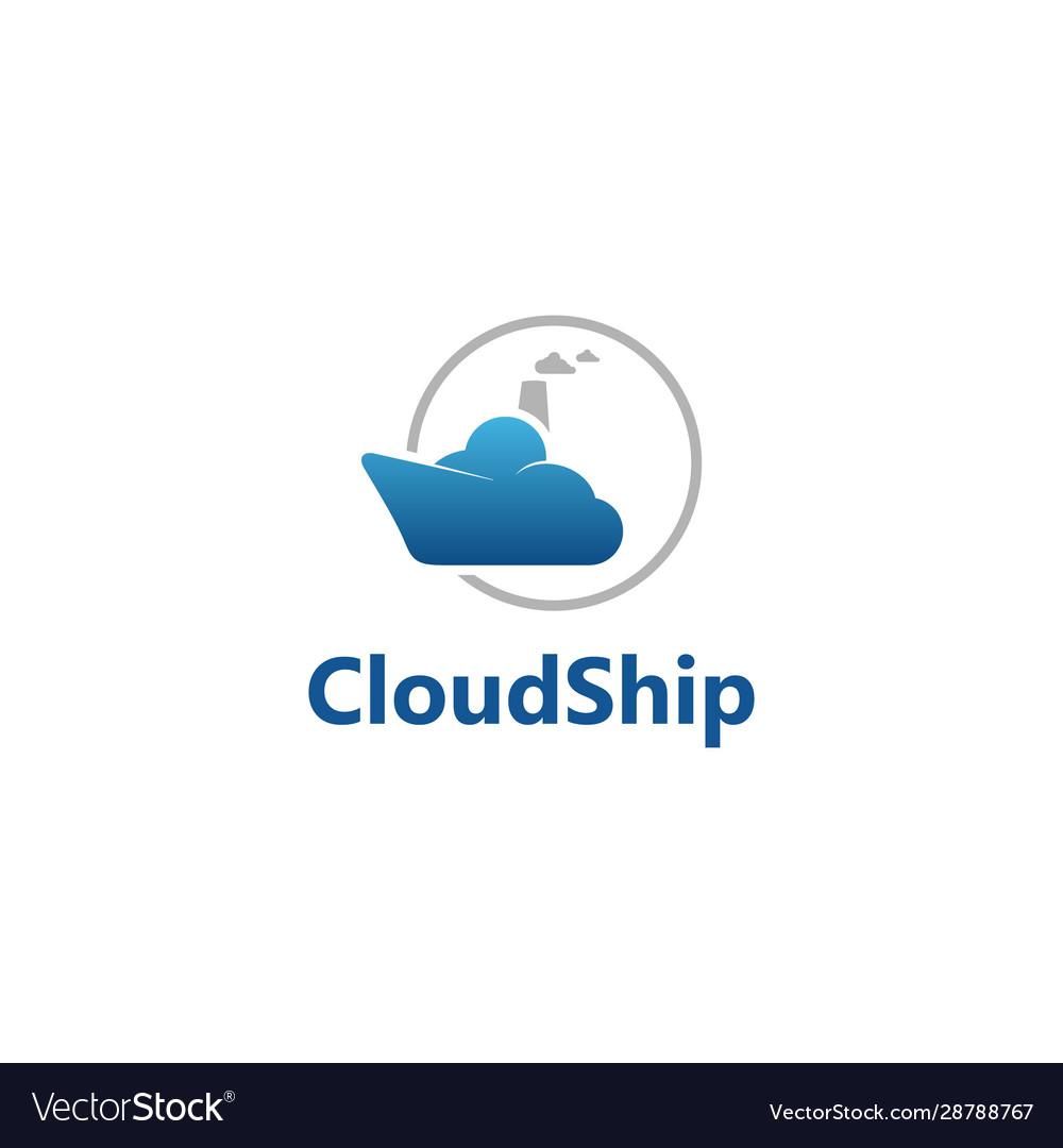 Cloud ship logo