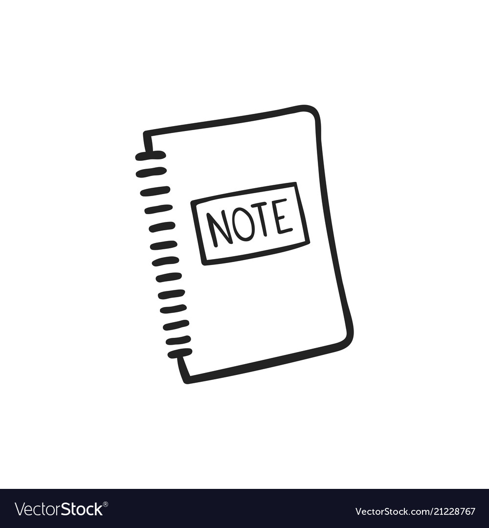Hand drawn icon of note pad