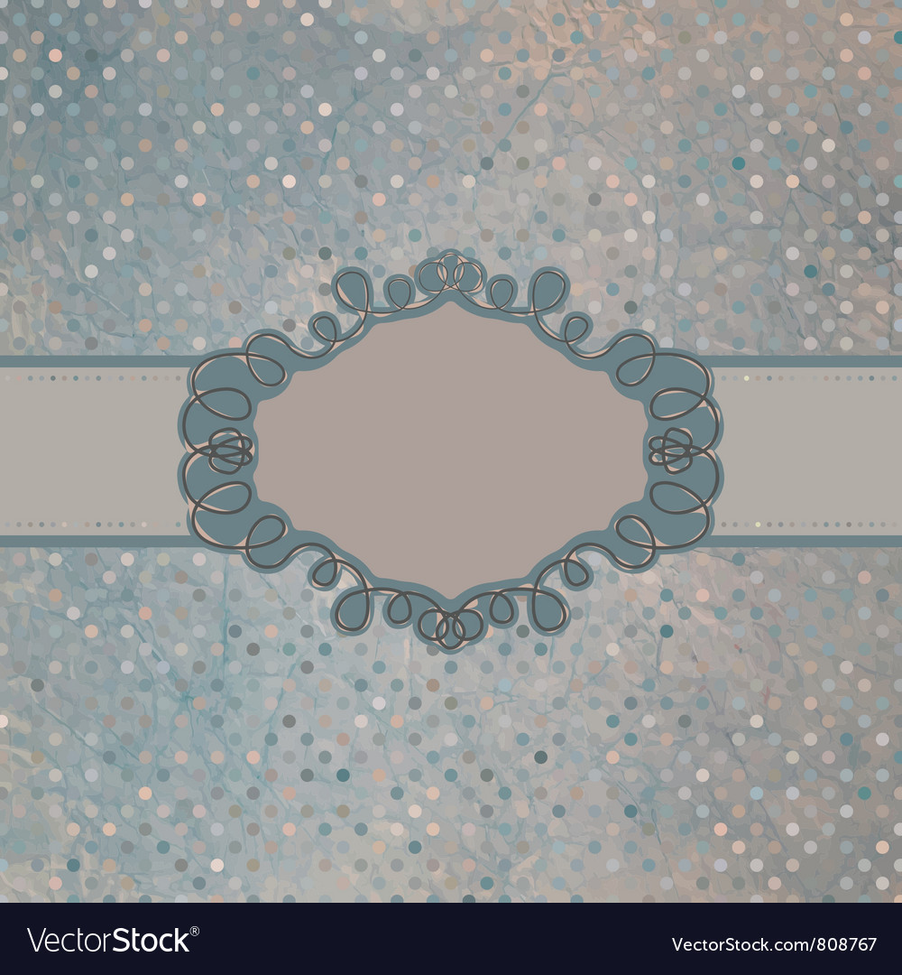 Vintage frame card vector
