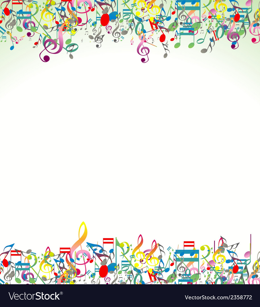 Abstract Music Notes Background Royalty Free Vector Image