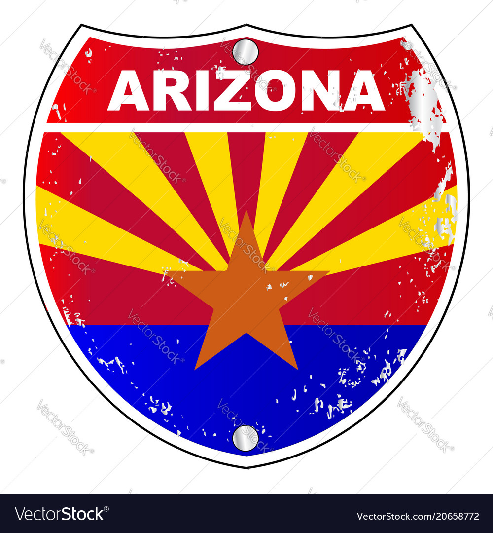 Arizona interstate sign vector image